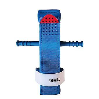 Vendaje hemostático, al aire libre Equipo médico de emergencia de hemostasia de una sola mano (azul)