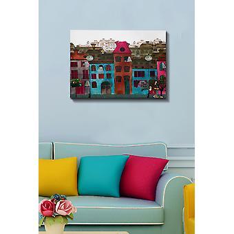 Kanvas Tablo (50 x 70) - 67 flerfärgade dekorativa dukmålning