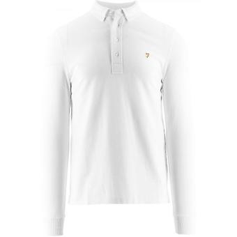 Farah White Ricky Polo Shirt