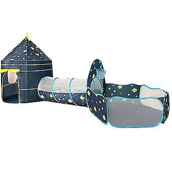 Ocean Ball Pool Tunnel Indendørs Home Play House Baby Legetøj House Børn Telt Blue