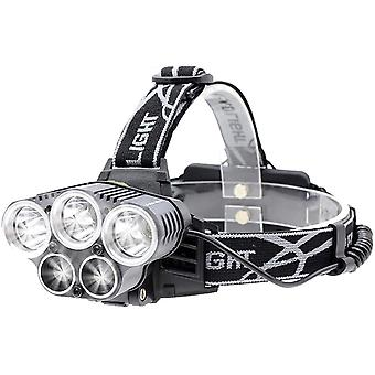 Led Headlamp, Rechargeable Usb Front Torch With Motion Detector, 6 Lighting Modes, Ipx4 Etnch, (5 Led Lights)
