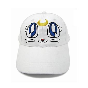 Sailor Moon Girl Baseball Hat White Cat Aekyunge Sports Cap Embroidery Cute Casual Cotton Snapback Hat