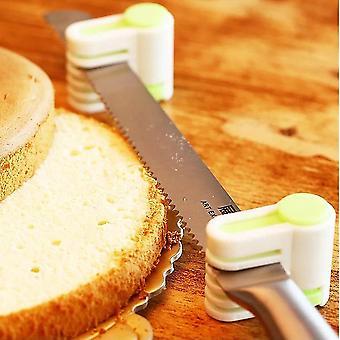 Zielony 5 Warstwy Kuchnia Diy Cake Chleb Cutter Leveler Sliceer Cięcia Fixator Narzędzia