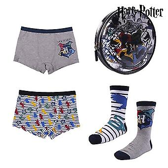 Pakket kinderondergoed Harry Potter Multicolour (4 stuks)
