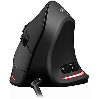 Ergonomische optische USB-Maus mit 6 Tasten für PC, Desktop, Laptop, Schwarz