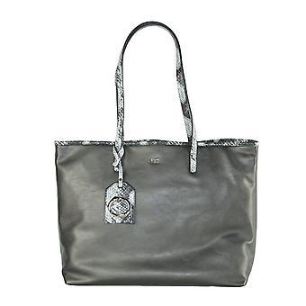 Gun metal shopping bag