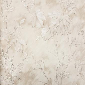 Fin inredning D& C Selveaggia Ko Päls Lämnar Cream Wallpaper 88744
