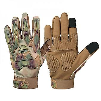 Camouflage Rubber Guard Protective Full Finger Tactical Gloves For Airsoft Hunting Cycling Motorbike