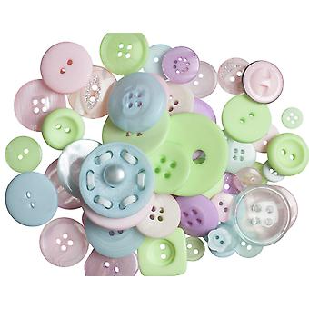 LAST FEW - 60g Boutons pastels assortis pour l'artisanat   Couture Scrapbooking Card Making