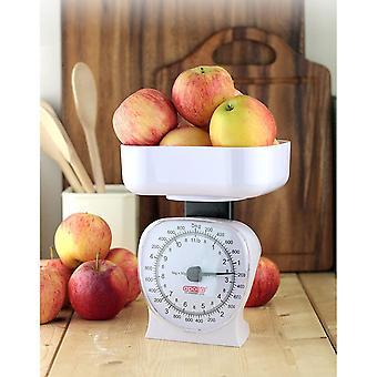 Kitchen Scale Large 5kg / 11Lb White, 15x13x18