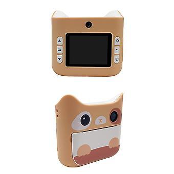 كاميرا الأطفال مع طباعة الصور الفورية طباعة الكاميرا الاطفال لعب صبي فتاة لطيف هدية عيد الميلاد 1080p كاميرا الفيديو الرقمية