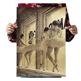 Aikakauslehdet sanomalehdet baletti loput vintage kraft paperi klassinen elokuva juliste