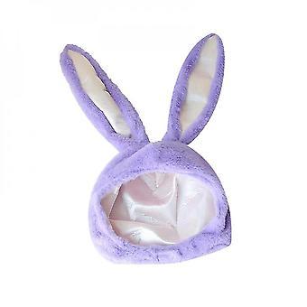 Aranyos plüss nyúl fülkagylalt (lila)