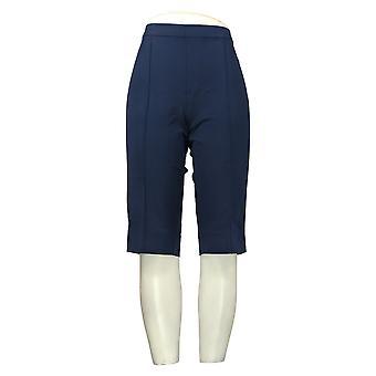 Isaac Mizrahi En direct! Petit pantalon pour femmes Poussoirs à pédales Pintucks Bleu A377473