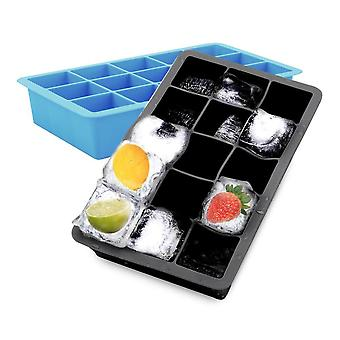 1x ice cube mold/silicone mold - ice cube silicone mold with 15 compartments à 3 x 3 x 3 cm for large ice cubes
