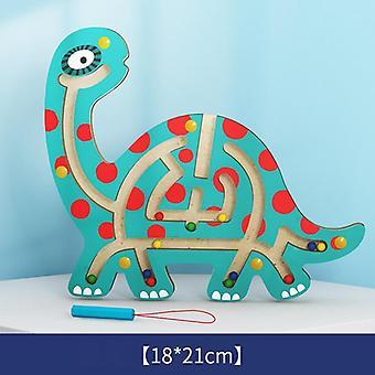 Montessori lapset magneetti sokkelo lelut lapset puinen pulma peli lelu koulutus aivot teaser puinen lelu palapeli älyllinen lauta