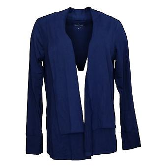 Cuddl Duds Pull Femme Flexwear Manches Longues Wrap Bleu A373509