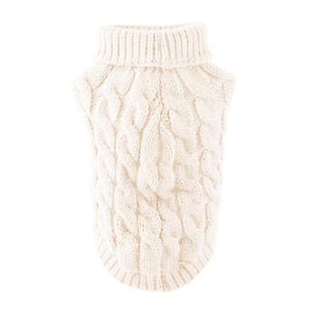 Talvi käyttää kilpikonnan kaula design-villapaita lemmikkieläimille