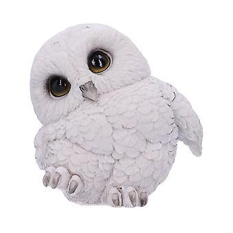 Feathers Cute Rotund Snowly Owl Figurine