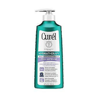Curel hydra therapy itch defense wet skin moisturizer for dry, itchy skin, 12 oz
