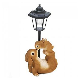 Summerfield Terrace Mother and Baby Rabbit Solar Garden Light, Pack of 1