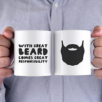 Med stora skägg kommer stort ansvar roliga muggar presenter till fars dag