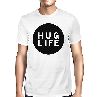 Przytulić życie biały T-shirt projekt Dekold okrągły koszul