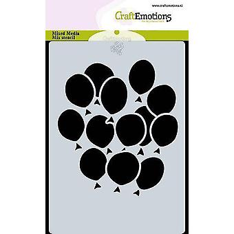 CraftEmotions Mask stencil balloons A6 Carla Creaties