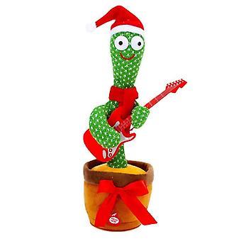 Dancing Cactus Toy Plush Electronic Singing Recording Lighting Christmas Decor Gift