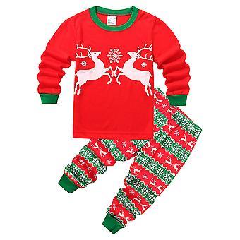 Kids Boy Girl Kerst Pyjama Set Sleepwear Nachtkleding Pjs Xmas Outfit