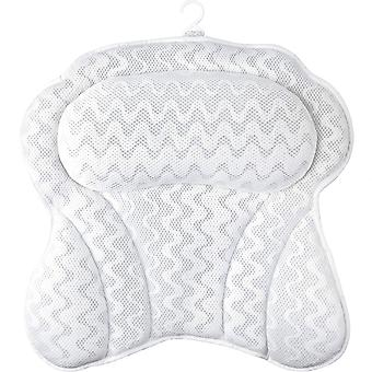 Sierra Concepts Bath Pillow For Bathtub, Spa, Headrest, Back, Neck, Shoulder, Tub - Soft Bathing Pillows With Strong Grip Suction Cups, Heavenly