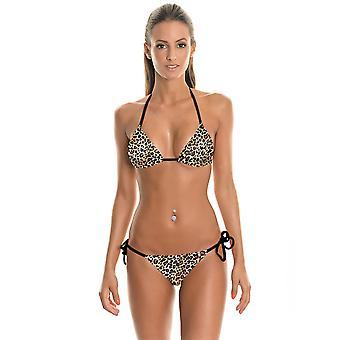 Women Hot 2 Pcs Halter Bikini Triangle Swimwear