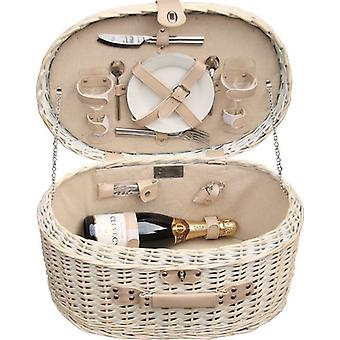 Provence-Oval ausgestattet ausgestatteter Picknickkorb