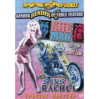 She-Man/Sins of Rachel [DVD] USA import