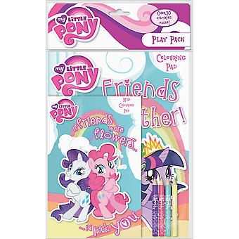 My Little Pony Play Pack Over 30 Colour Pages 4 Pencils