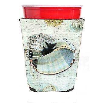 Carolines Treasures  SB3028RSC Shells  Red Solo Cup Beverage Insulator Hugger