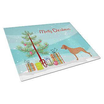 Bavarian Mountian Hound Christmas Glass Cutting Board Large