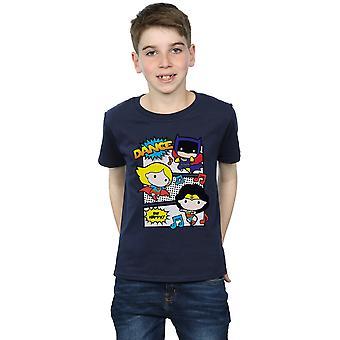 DC Comics Boys Chibi Super Friends Dance T-Shirt