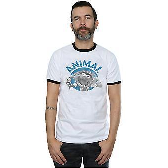 Disney Men's The Muppets Animal Face Ringer T-Shirt