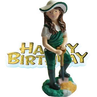 Kreativa Party kvinnlig trädgårdsmästare & Motto Cake Topper