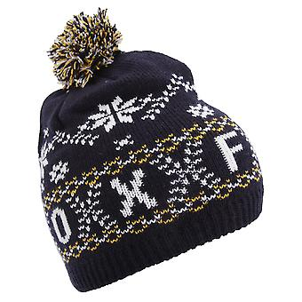 Unisex Fairisle Pattern Oxford Winter Bobble Hat