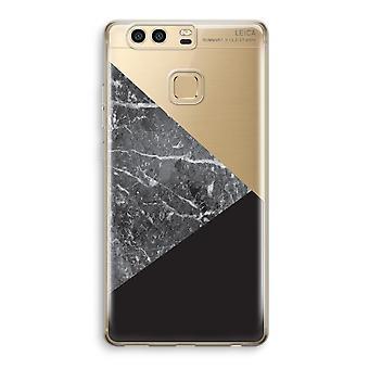 Huawei P9 boîtier Transparent (doux) - combinaison de marbre