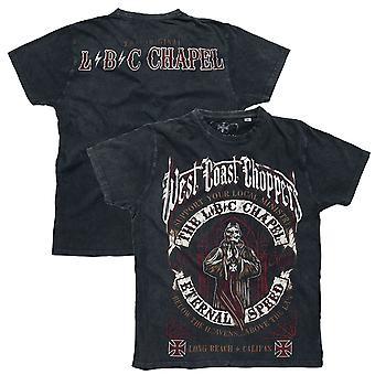 West Coast choppers mens T-Shirt the chapel anthracite vintage black