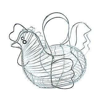 Apollo Chicken Egg Basket, Chrome
