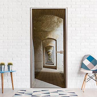 Photo wallpaper on the door - Mysterious Corridor