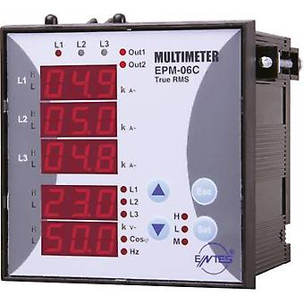 ENTES EPM-06C-96 Programmable 3-PHASE BUILD-AC-Multimeter EPM-06C-96 Voltage, current, frequency, operating hours, Total Hours