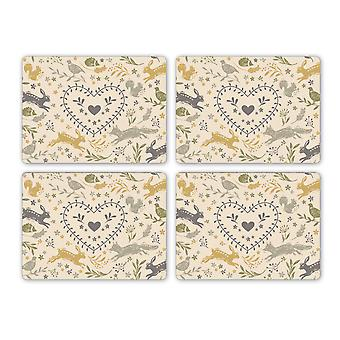 Cooksmart Pack of 4 Woodland Placemats