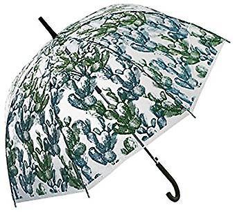 Straight Clear Umbrella Cacti Light Green