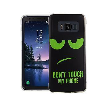 Etui na telefon dla Samsung Galaxy S8 pokrywa active case torba ochronna motyw slim silikonowe TPU nie dotykać mojego telefonu zielony