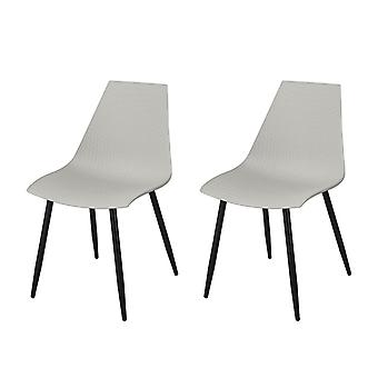 SoBuy Set of 2 Kitchen Dining Office Lounge Room Chairs Grey FST60-HGx2